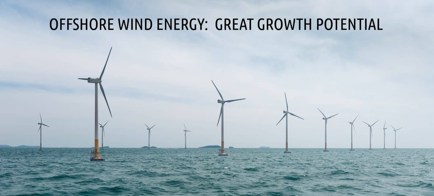 Offshore wind energy:  great growth potential