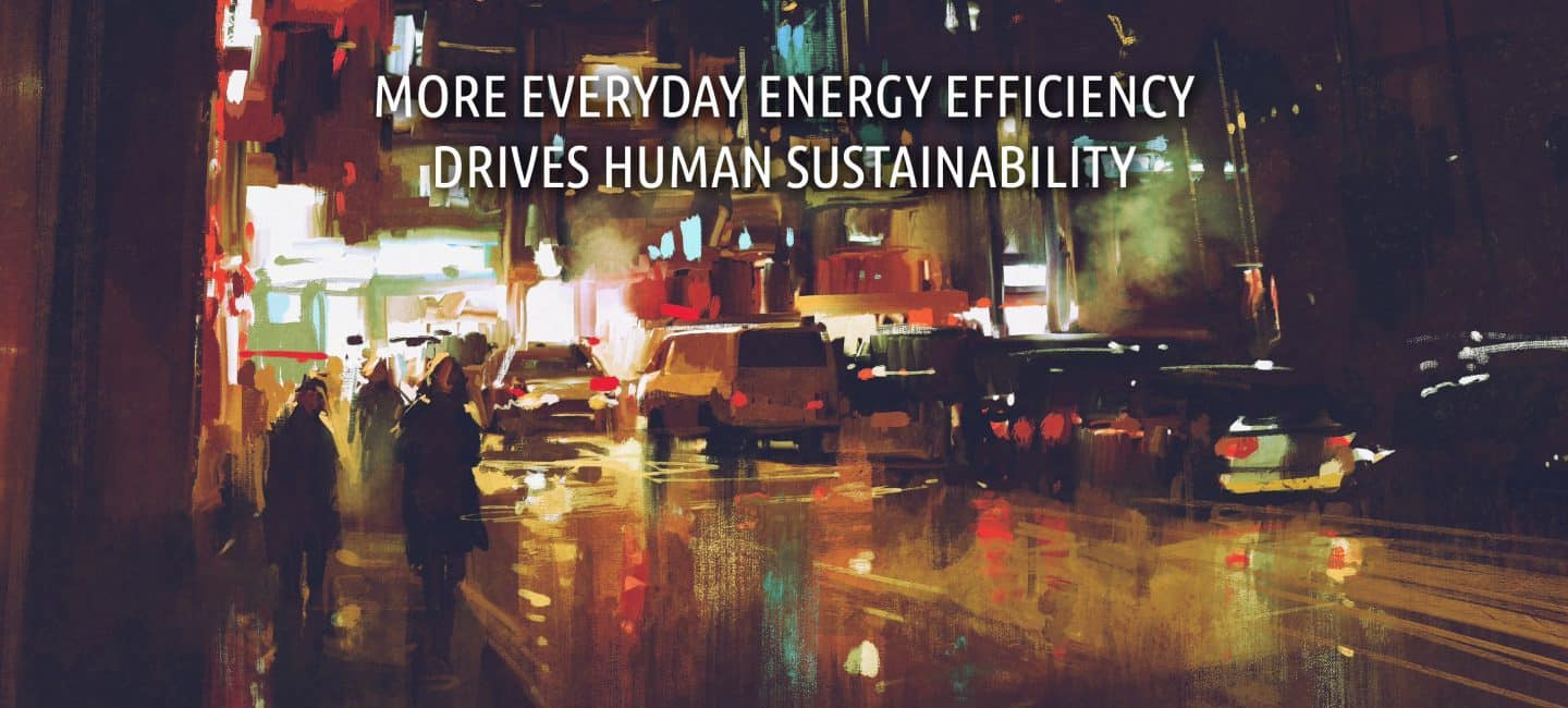 More everyday energy efficiency  drives human sustainability